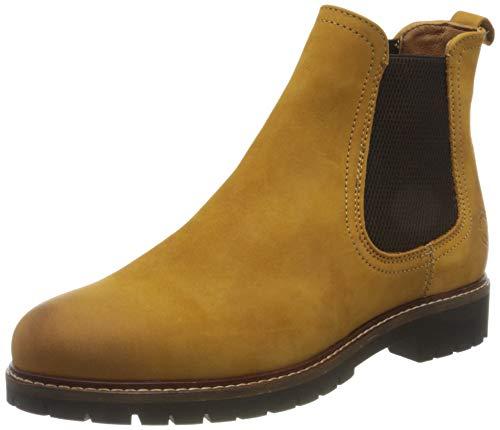 Salamander Damen Chelsea Boots Pinnea Chelsea-Boots Velour gelb Gr. 42