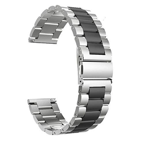 JWWLLT 2021,18mm 22mm 20 mm de 24 mm de Banda para Samsung Galaxy Watch 42 46mm para Galaxy Watch 3 45mm 41mm de Acero Inoxidable para Correas BIP GTR
