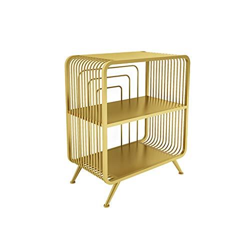TXXM Nachttisch Schlafzimmer Spind, Schlafzimmer Nachttisch, Wohnzimmer Locker, Wohnzimmer Sofa Seitenschrank (Color : Gold, Size : 55 * 32 * 65cm)