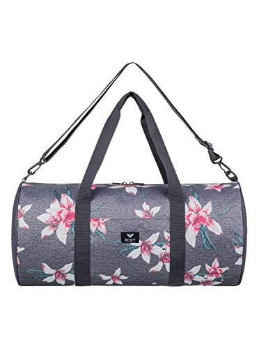 Roxy Kind of Way Petate de Viaje Grande, Mujer, Rosa/Gris (Charcoal Heather Flower Field), 35 l