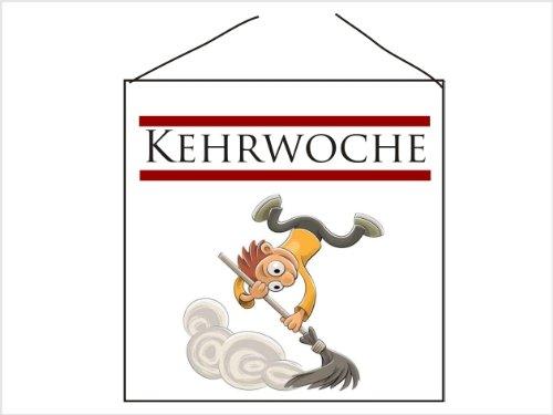 Creativ Deluxe Türschild-hochglänzend und Kratzfest - Kehrwoche