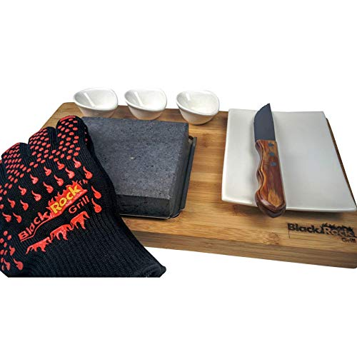 Black Rock Grill Steak on the Stone Gift Set, Hot Rock Stone Cooking Gift