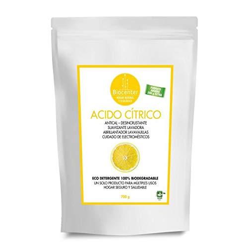 Biocenter Acido Cítrico - Suavizante, Abrillantador, Antical, Desincrustante 700 g