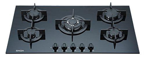 Saga Elegans X951-B Piano cottura in vetro temperato, con 5bruciatori a gas, dimensioni:...