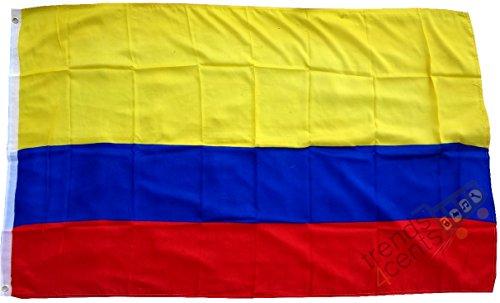 Sportfanshop24 Drapeau/état Drapeau Colombie drapeau/Pays Drapeau/Hiss Drapeau avec oeillets 150 x 90 cm, Très bonne qualité