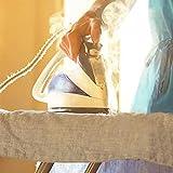 Bügelbrettbezug, Extra Groß, Bügelbrett Bezug 160 x 60 cm, für Alle Größen Bügelbrett, XXL, mit 4 Clips Verbrühschutztuch - 4