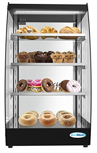 KoolMore Commercial Glass Bakery Display case 4 Tier Self Service Pastry Case with LED Lighting and Rear Door - 2.7 cu. ft
