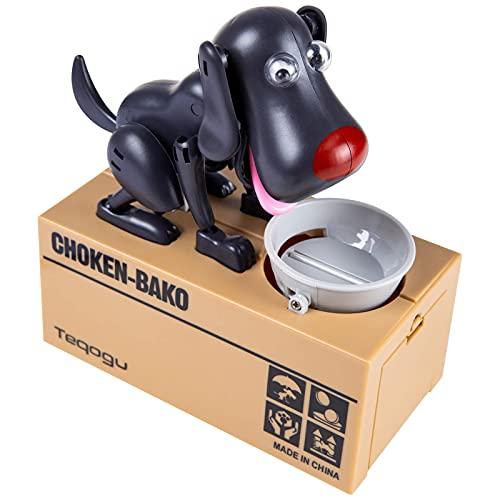 BIUBIULOVE Kleiner Hund Puggy Bank - Niedliche automatische Stehlen Münze Bank, Roboter Münze Munching Spielzeug Spardose für Kinder