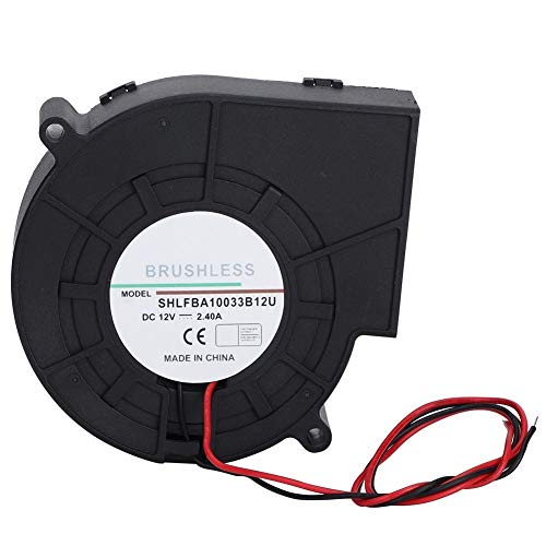 NOBRAND Turbina Unibell Bola Doble Ventilador de Aire de Ventilador de refrigeración for Picnic Camping Equipo de calefacción Barbacoa 12V 2.4A