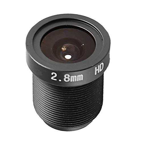 Lente del Ojo de Pez, lente de placa gran angular 1080P, lente de placa única de seguridad de gran angular de 2,8 mm y 128 grados para cámara