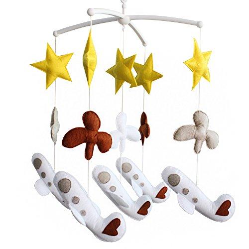bébé Jouet mobile musical fait main de lit bébé Cadeau de Noël Planète