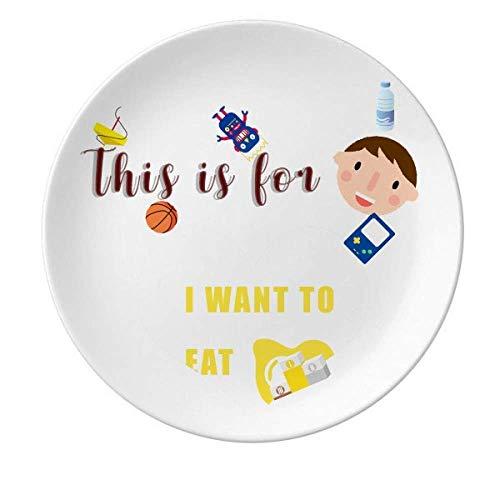 Eat Egg Desire Life - Plato redondo de porcelana, diseño de chica