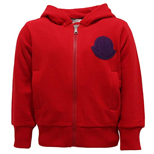 Moncler 7340Y Felpa Bimbo Boy Full Zip red/Violet Cotton Sweatshirt [4 Years]