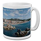Lloret De Mar Costa Brava Spain Beach & Sea - Taza de recuerdo de 10 oz