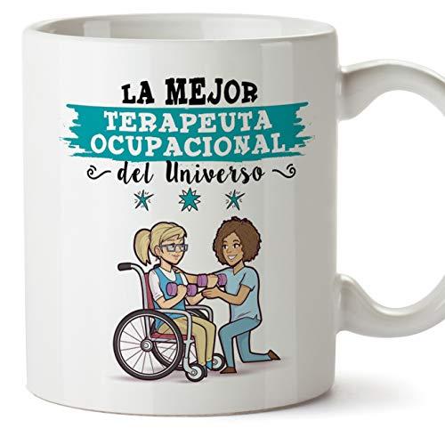MUGFFINS Terapeuta. Ocupacional Tazas Originales de café y Desayuno para Regalar a Trabajadores Profesionales - Esta Taza Pertenece a la Mejor Terape