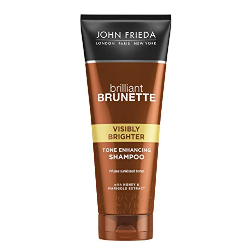 John Frieda Brilliant Brunette Visibly Brigher Lightening Shampoo Shampoo. 250 Milliliters Shampoo.