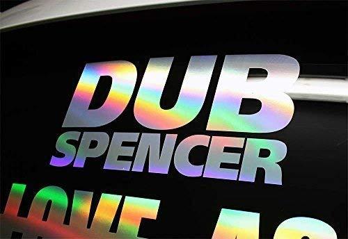 DUB SPENCER 30 cm Oil Slick Sticker Auto Porno Hologram Aufkleber Stance Static Dub