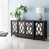 Safavieh Couture Home Madeleine Contemporary Black Mirrored Sideboard