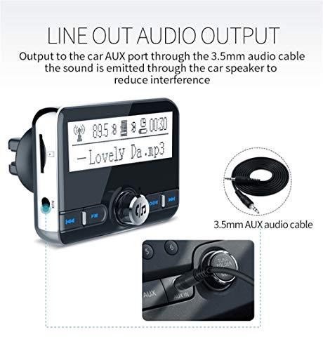 Bluetooth FM-zender, dual usbcharging, bluetooth-muziek, TF-kaartweergave, handsfree, draadloze lader, car charger