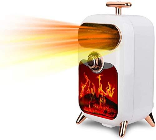 Fuego eléctrico Estufa eléctrica Estufa eléctrica Retro 900W Estufa de leña Estufa W Efecto de llama Chimenea independiente Estufa de leña Luz LED Temperatura ajustable Diseño de llamas Ventan
