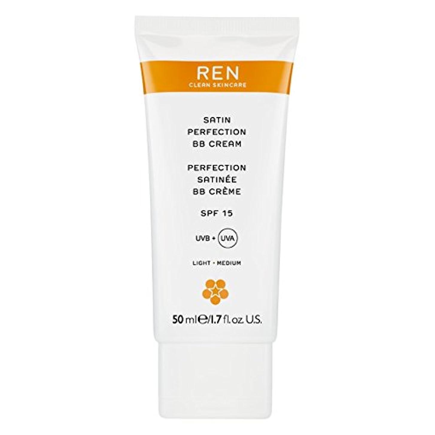 威信波紋鑑定Renサテン完璧Bbクリーム50ミリリットル (REN) (x2) - REN Satin Perfection BB Cream 50ml (Pack of 2) [並行輸入品]