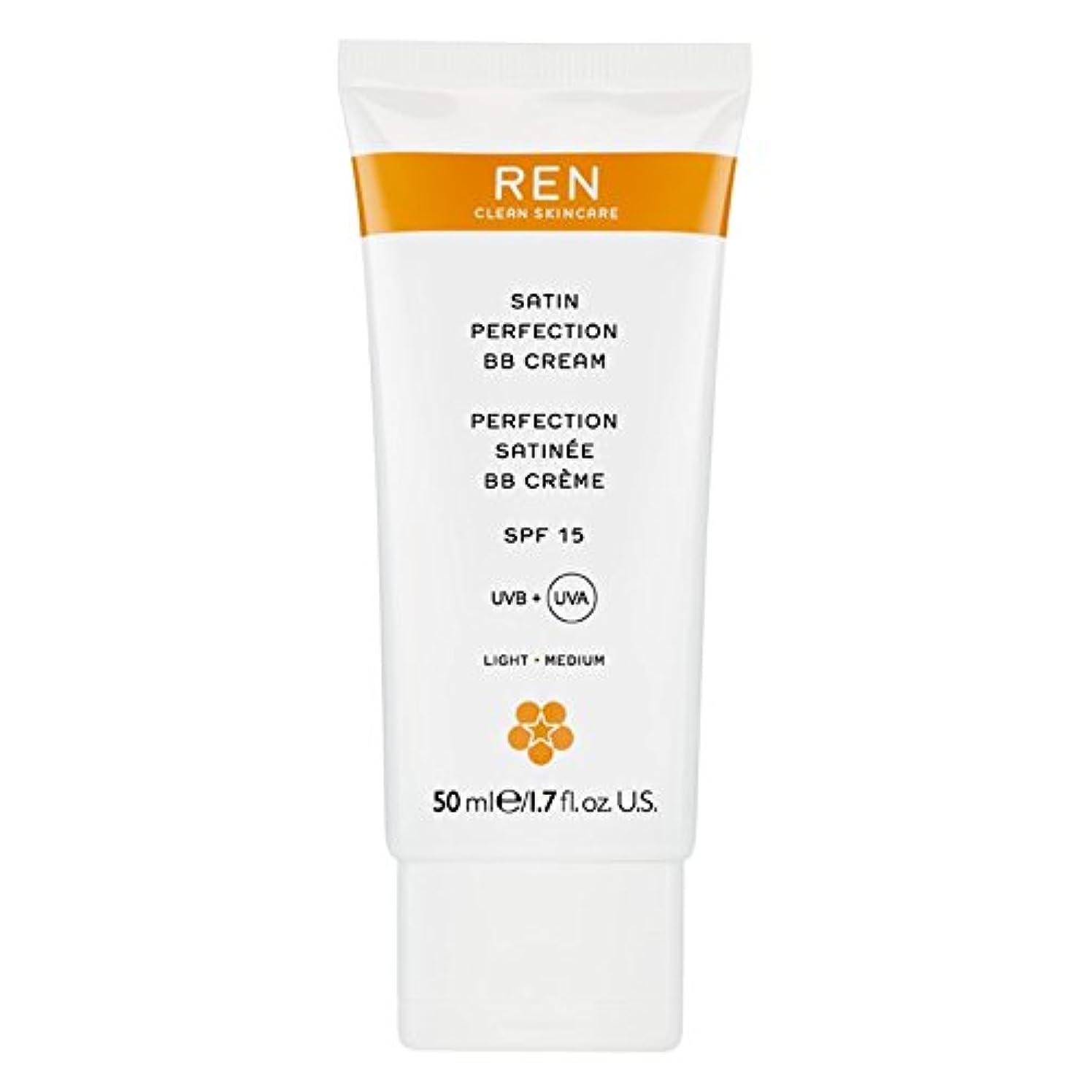 受取人プレミアム初心者Renサテン完璧Bbクリーム50ミリリットル (REN) (x6) - REN Satin Perfection BB Cream 50ml (Pack of 6) [並行輸入品]