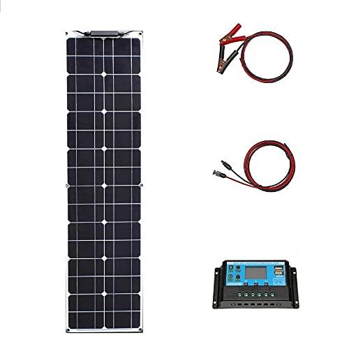 Kit de panel solar monocristalino, 16V 50W, panel solar flexible, utilizado para la supervivencia del desierto, caravanas, botes, furgonetas, triciclos, tiendas en la azotea potencia-12v 50w