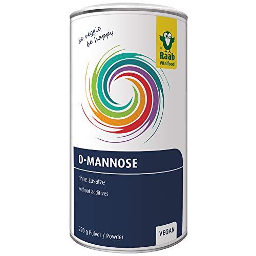 Raab Vitalfood D-Mannose, rein, vegan ohne Zusätze, kann Bakterien binden, glutenfrei, laborgeprüft in Deutschland, Vorratspack für 62 Portionen (220 g)
