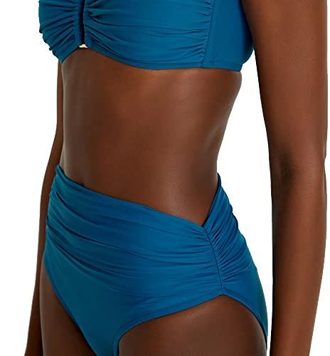 Lenny Niemeyer High Waist Full Bikini Bottom in Atlas Blue, Full Coverage (Large, l)