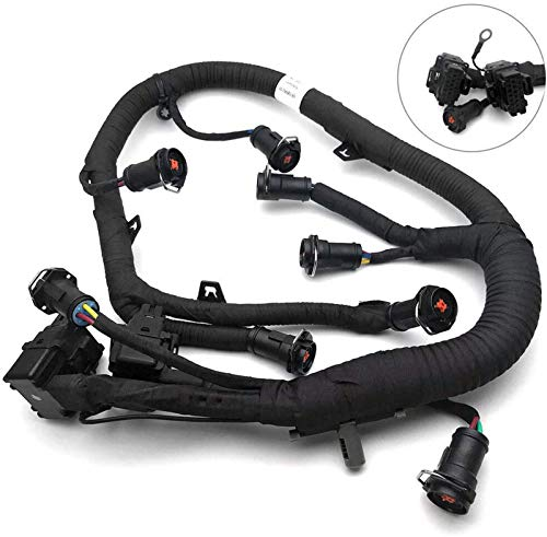 FICM Engine Fuel Injector Complete Wire Harness Compatible with for Ford Powerstroke 6.0L Diesel 2003, 2004, 2005, 2006, 2007 F250 F350 F450 F550 Excursion, Replacement# 5C3Z-9D930-A, 5C3Z9D930A