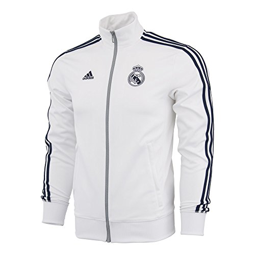 adidas Real Madrid 3S Track Top (White/Navy) (Extra Large)