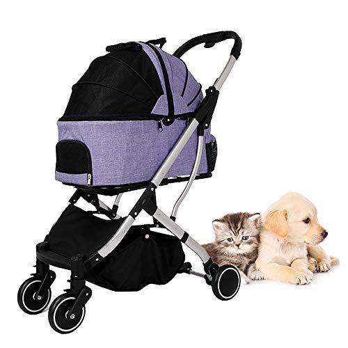 Ajcoflt Cochecito para Mascotas para Gato, Perro, Jaula Desmontable, Cochecito para Mascotas,...