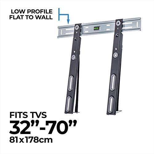 AmazonBasics Performance flache TV-Wandhalterung für 81,2177,8 cm (32-70 Zoll) TV-Geräte