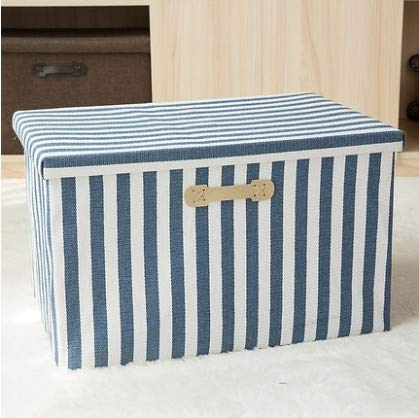 ETRZ Kleideraufbewahrungsbox Haushaltsstoff Faltbare Aufbewahrungsbox Blaue Streifen (50 * 35 * 31cm)