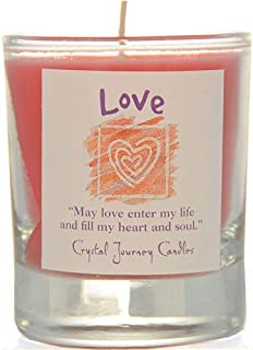 Crystal Journey Herbal Magic Glass Filled Votive Soy Candle - Love