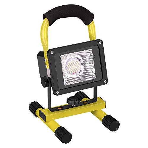 Eletorot Projecteur LED Rechargeable, 30W Projecteurs pour Chantier 6000mAh Lampe Rechargeable LED Lampe de Travail Lumières de Sécurité d'urgence étanche pour Atelier, Garage, Terrasse, Jardin