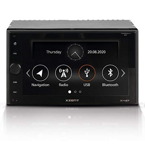 """XZENT X-427: 2-Din Autoradio, Multimediasystem mit 16,5 cm / 6,5"""" Touchscreen, Mediencenter mit DAB+, Bluetooth, USB, zum Navi für PKWs und Reisemobile erweiterbar"""