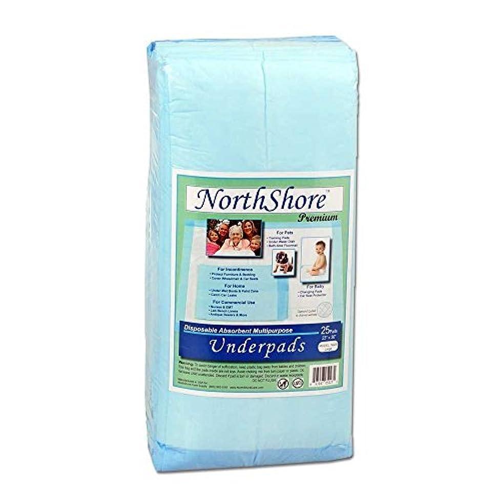NorthShore Premium Puppy Pads (Case/100 (4/25s), Blue, 23x36, 25 oz.)