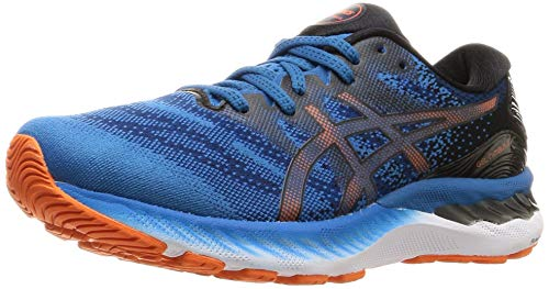 ASICS Men's Gel-Nimbus 23 Running Shoe, Reborn Blue/Black, 10 UK