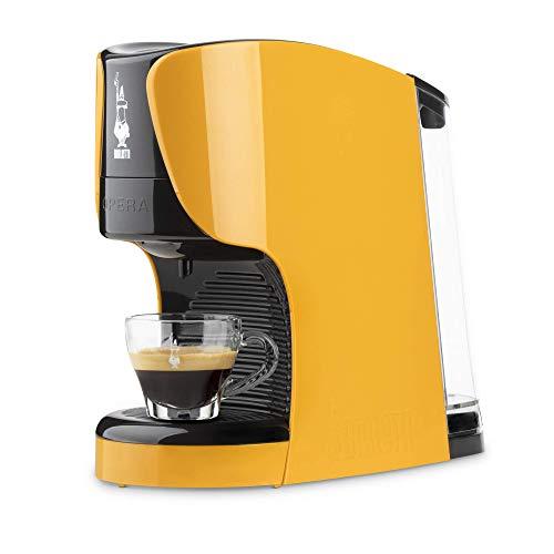 Bialetti Opera Macchina da Caffè Espresso per Capsule in Alluminio sistema Bialetti il Caffè d'Italia, Ocra