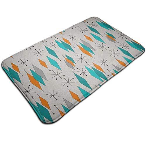 Tuoneng Mid-Century Modern Diamond,Kitchen Carpet Rug Door Mat Rug for Bathroom Outdoor Porch Laundry Living Multifunction Doormat (19.5' X 31.5')