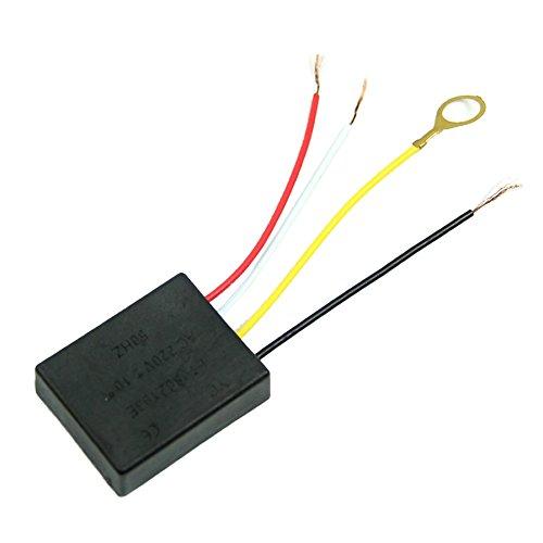 SODIAL Piezas de luz de mesa Encendido/apagado Sensor de control tactil de 1 via Interruptor de lampara bombilla