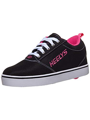 Heelys Girl's Pro 20 (Little Kid/Big Kid/Adult) Black/White/Pink 4 Big Kid M