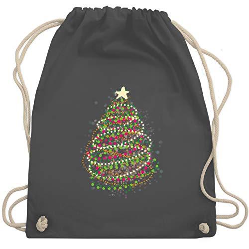 Weihnachten & Silvester - Abstrakter Weihnachtsbaum - Unisize - Dunkelgrau - künstlicher weihnachtsbaum - WM110 - Turnbeutel und Stoffbeutel aus Baumwolle