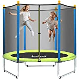Recreational Trampolines, Kalkal 5FT Trampoline with Safety Enclosure for Kids and Family