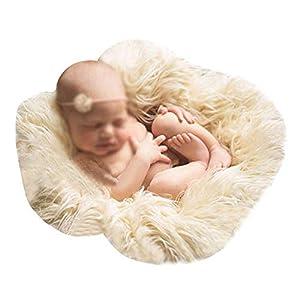 Monique Newborn Baby Solid Color Soft Faux Fur Photography Blanket Mat Photo Props Rug