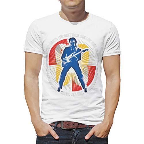 WJunglezhuang Jongen Gedrukt T-shirt Cool Gitarist Gepersonaliseerde Tops Tees voor volwassenen