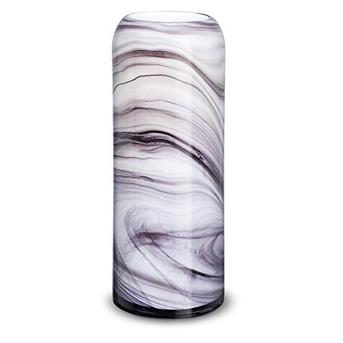 LUSUNT 30*12cm Florero de cristal de lujo, Porcelana de imitación, Combinación de colores creativos, Decoración del hogar de la oficina del hotel de la boda, Hecho a mano, Regalo para familiares amigo