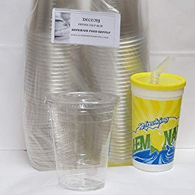 Clear Ice Cups With Lids