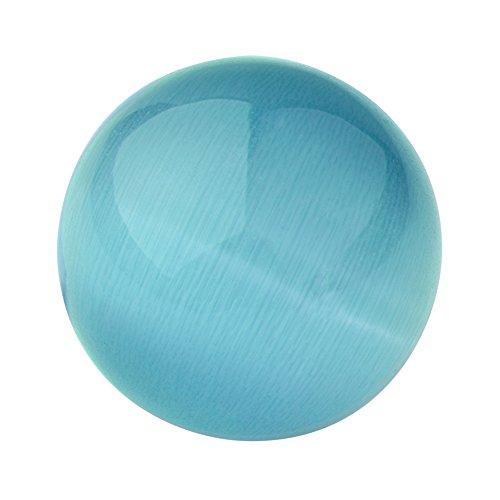 Quiges Austauschbare Mini Coin 12mm Wechselstein Blau Katzenauge Stein für Ringe-Ohrringe-Anhänger-Armband Halter